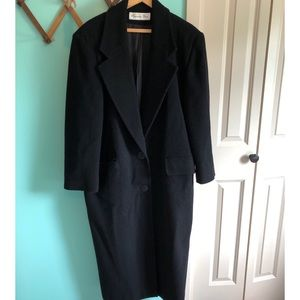 VTG 70s Christian Dior Wool Black Coat